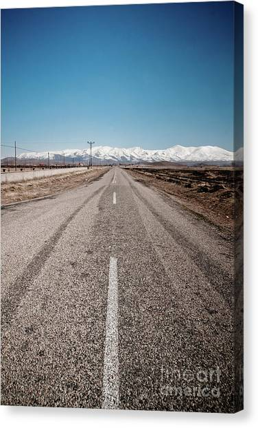 infinit road in Turkish landscapes Canvas Print