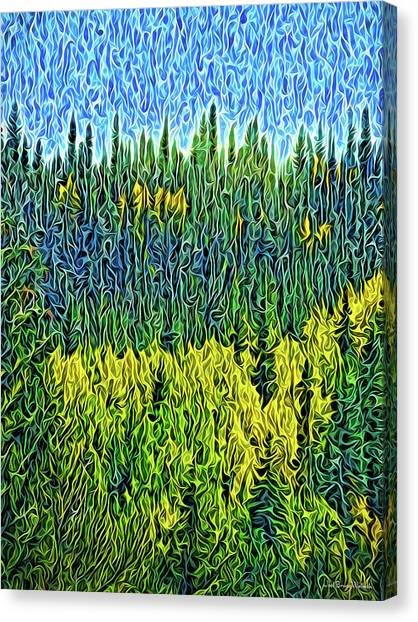 Canvas Print featuring the digital art Infinite Forest Vista by Joel Bruce Wallach