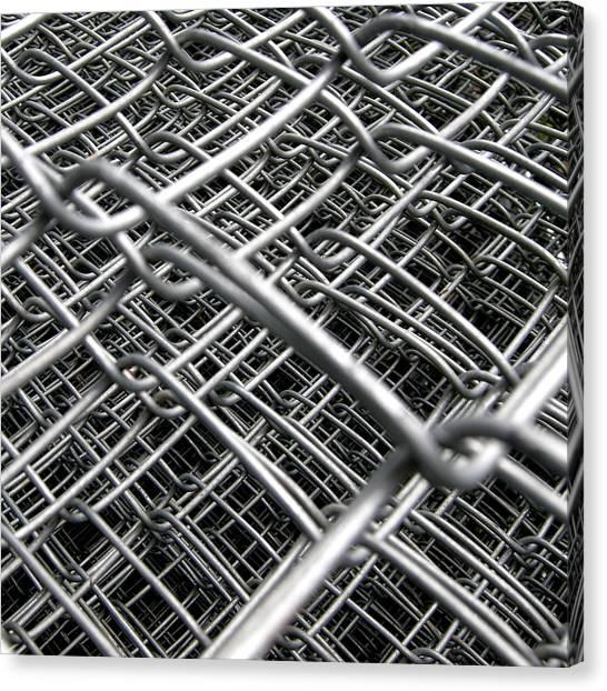 Chain Link Fence Canvas Print - Infinity by Photo Ephemera