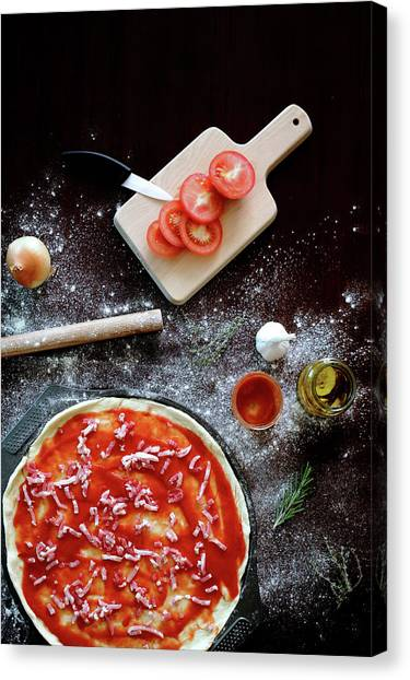 Ingredients For Pizza Canvas Print