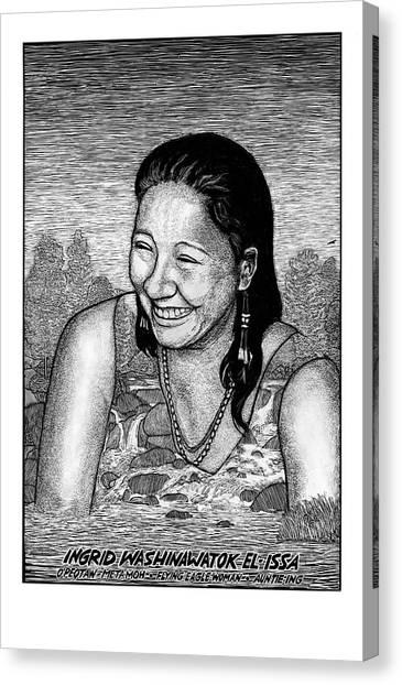 Ingrid Washinawatok El-issa Canvas Print by Ricardo Levins Morales