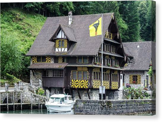 Inn On Lake Lucerne Canvas Print