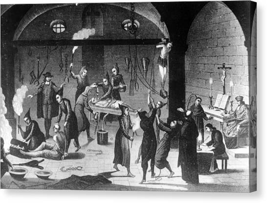 Inquisition Tortures Canvas Print by Three Lions