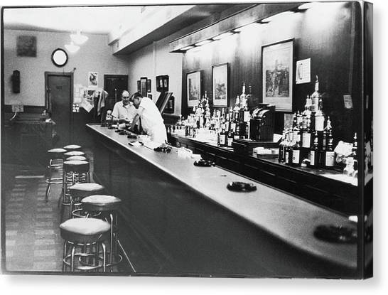 Inside The Cedar Street Tavern Canvas Print