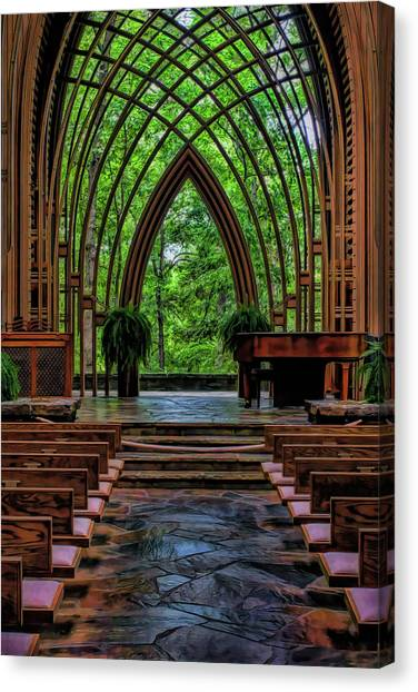 Inside The Chapel Canvas Print