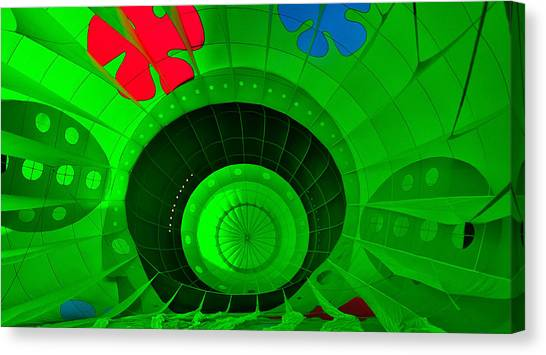 Inside The Green Balloon Canvas Print