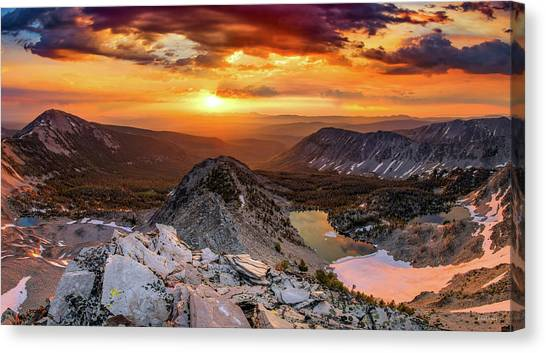 Canvas Print featuring the photograph Inspiring Sunrise  by Leland D Howard