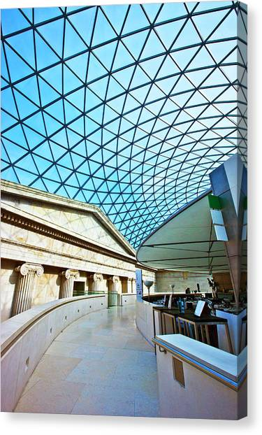 Interior Of The Great Court, British Canvas Print