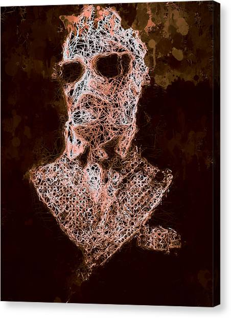 Canvas Print featuring the mixed media The Invisible Man by Al Matra