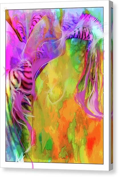 Iris Psychedelic  Canvas Print