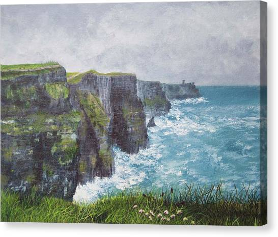 The Cliffs Of Moher Canvas Print - Irish Cliffs Of Moher by Teresa Cairns