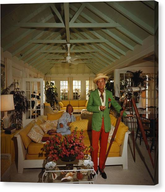 Island Lookout Canvas Print by Slim Aarons