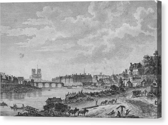 Islands Of Paris Canvas Print by Hulton Archive