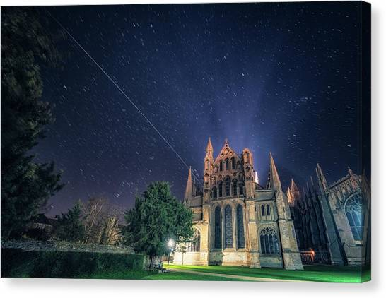 Iss Over Ely Cathedral Canvas Print