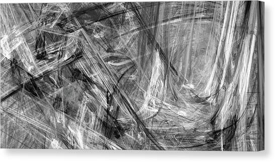 Canvas Print featuring the digital art It Has Been A Busy Day by Angie Tirado