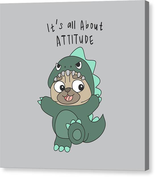 It's All About Attitude - Baby Room Nursery Art Poster Print Canvas Print
