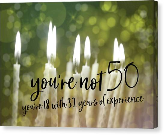 It's Only A Number 50 Quote Canvas Print by JAMART Photography