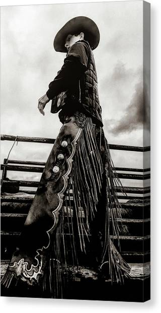 Its The Boots And The Chaps Canvas Print