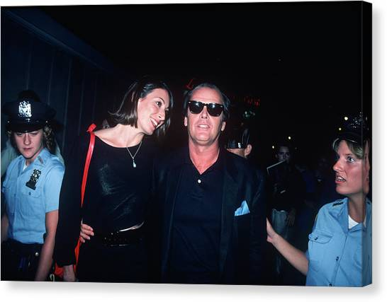 Jack Nicholson, Anjelica Huston Canvas Print