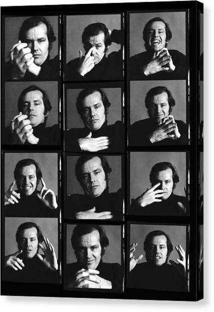 Jack Nicholson Contact Sheet Canvas Print