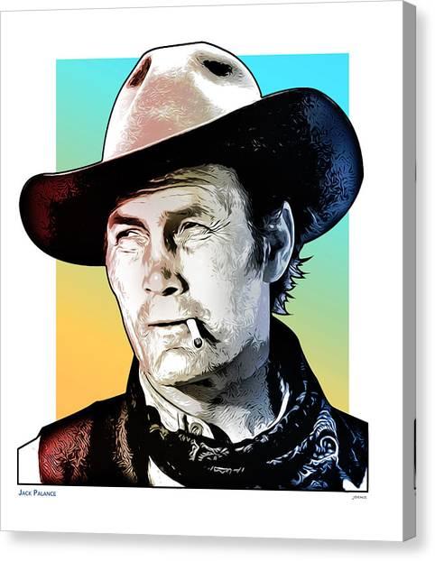 Cowboy Canvas Print - Jack Palance Pop Art by Greg Joens