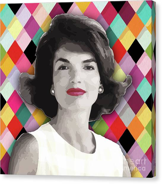 Canvas Print featuring the painting Jackie Geometric by Carla B