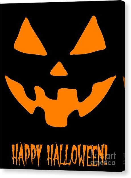 Jackolantern Happy Halloween Pumpkin Canvas Print