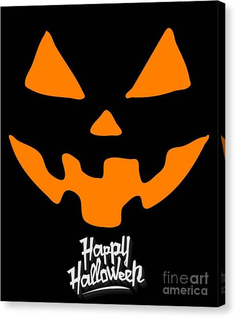 Jackolantern Pumpkin Happy Halloween Canvas Print