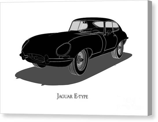Jaguar E-type - Front View Canvas Print