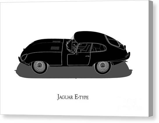 Jaguar E-type - Side View Canvas Print
