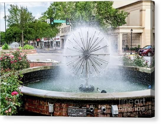 James Brown Blvd Fountain - Augusta Ga Canvas Print