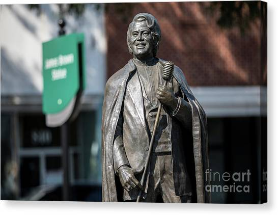 James Brown Statue - Augusta Ga Canvas Print