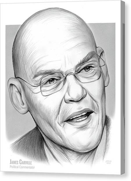 Political Canvas Print - James Carville by Greg Joens