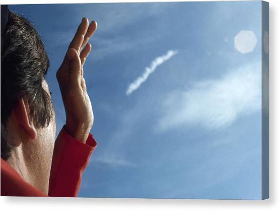 Jan Armstrong Watches Apollo 11 Launch Canvas Print