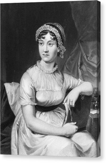 Jane Austen Canvas Print by Hulton Archive