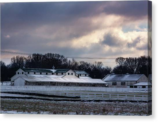 January Dusting Canvas Print