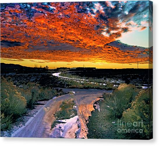 January Sunset Canvas Print