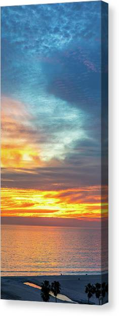 January Sunset - Vertirama Canvas Print