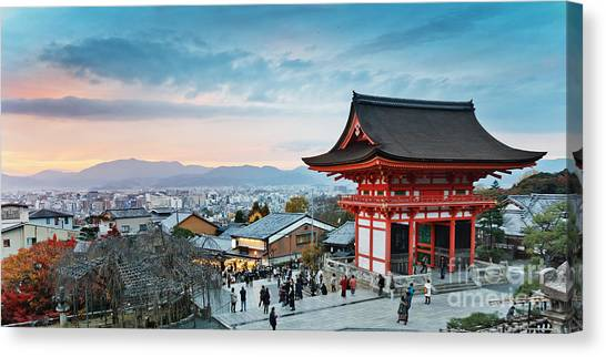 Japanese Gardens Canvas Print - Japan - Kyoto. Kiyomizu Temple by Kanuman