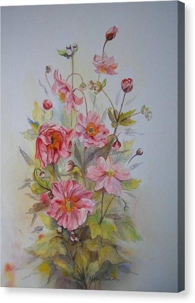 Japanese Anemones Canvas Print