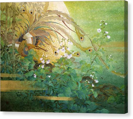 Golden Eagle Canvas Print - Japanese Modern Interior Art #160 by ArtMarketJapan