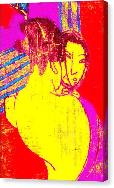Japanese Pop Art Print 1 Canvas Print
