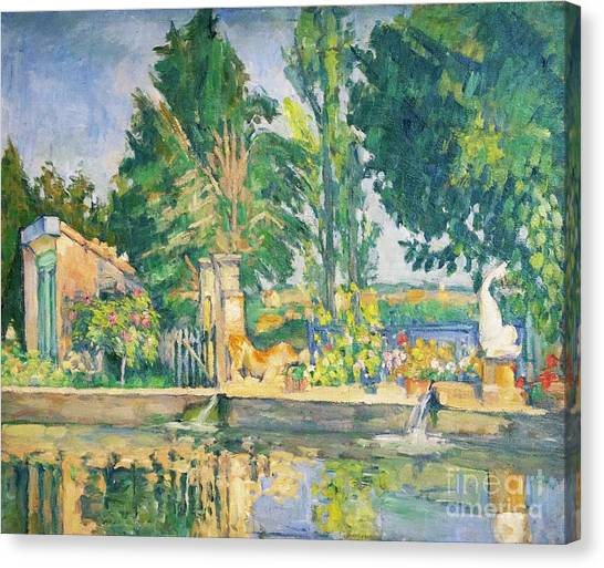 State Hermitage Canvas Print - Jas De Bouffan, The Pool by Peter Barritt