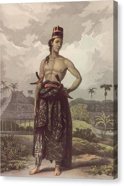 Javan Royalty Canvas Print by Hulton Archive