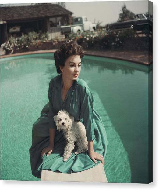Jean Simmons Canvas Print by Baron