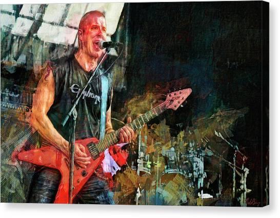 Jeff Hanneman Canvas Print - Jeff Waters, Annihilator by Mal Bray