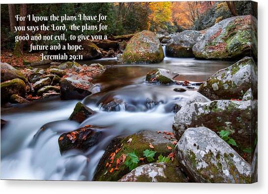 Jeremiah 29 And 11 Canvas Print