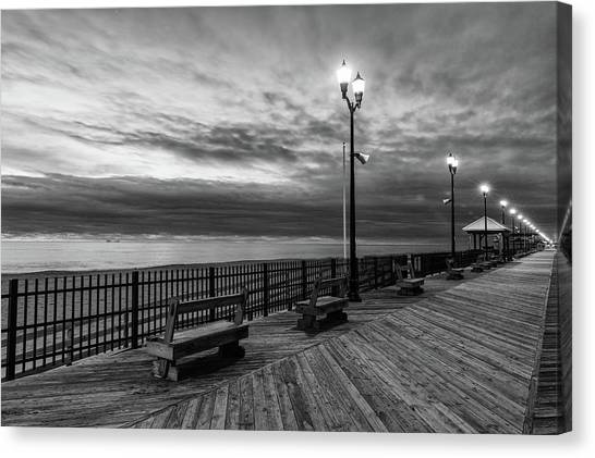 Jersey Shore In Winter Canvas Print