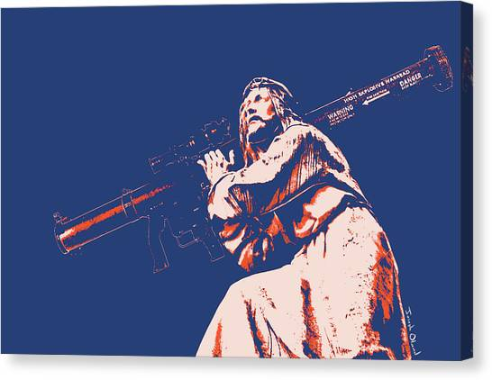 Messiah Canvas Print - Jesus Christ The Messiah - With A Rocket Propelled Grenade by Joseph Oland