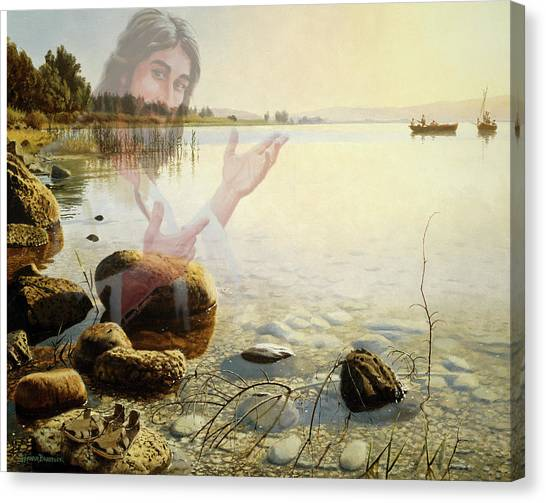 Jesus, Come Follow Me Canvas Print